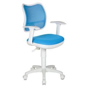 Кресло компьютерное Бюрократ CH-797W голубой бюрократ кресло компьютерное бюрократ ch 875c mocca мокко