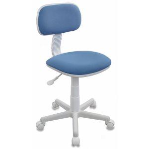 Кресло компьютерное Бюрократ CH-W201NX белый/голубой бюрократ кресло компьютерное бюрократ ch 875c mocca мокко