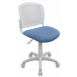 Кресло компьютерное Бюрократ CH-W296 белый/голубой бюрократ кресло компьютерное бюрократ ch 875c mocca мокко