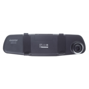 Автомобильный видеорегистратор Digma FreeDrive 303 MIRROR DUAL чёрный