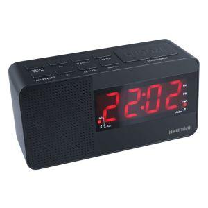 все цены на Радиоприемник с часами Hyundai H-RCL200 чёрный онлайн