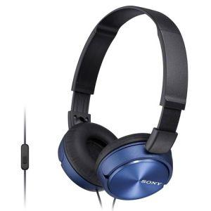 Проводные наушники Sony MDR-ZX310AP синий наушники sony mdr zx310ap mdrzx310apb ce7 накладные черный проводные