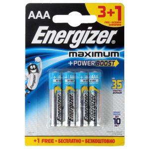 Батарейка Energizer MAX LR03/E92 AAA FSB4 батарейка aaa energizer lr03 max 12 штук e300103700