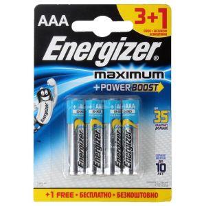 Батарейка Energizer Maximum LR03/E92 AAA FSB4 батарейка aaa energizer lr03 max 12 штук e300103700
