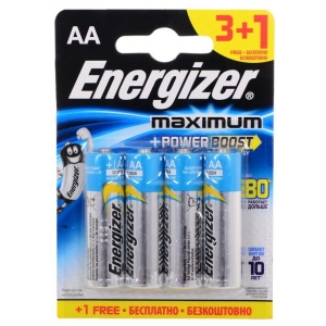 Батарейка Energizer Maximum LR6/E91 AA FSB4 батарейка energizer maximum lr6 bp2 2шт в блистере