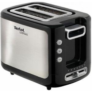 Тостер Tefal TT 3650 серебристый/черный цена