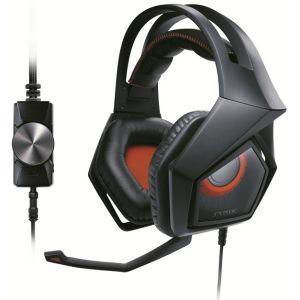 Компьютерная гарнитура Asus Strix Pro чёрный/красный гарнитура asus strix dsp 90yh00a1 m8ua00