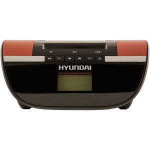 Магнитола Hyundai H-PAS240 черный/коричневый hyundai h pas220 черный с синим