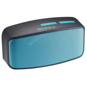 Портативная колонка Supra BTS-530 чёрный/голубой колонка supra bts 550