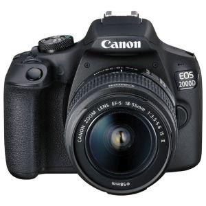 Зеркальный фотоаппарат Canon EOS 2000D Kit чёрный