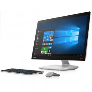Моноблок Lenovo IdeaCentre AIO 910-27ISH 27 Full HD i5 7400T (2.4)/8Gb/1Tb/GT940A 2Gb/Windows 10/GbitEth/WiFi/BT/клавиатура/мышь/Cam серебристый моноблок lenovo ideacentre aio 520 24ikl f0d1006crk i5 7400t 2 4 8gb 1tb 23 8 fhd 1920x1080 int intel hd 630 dvd sm bt wifi win10 black клавиатура мышь