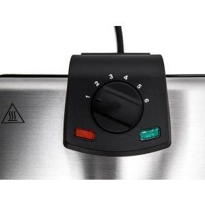 Вафельница Kitfort KT-1606 серебристый/черный вафельница kitfort kt 1605