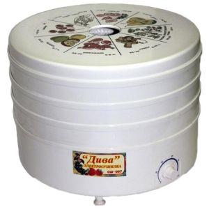 Сушилка для овощей и фруктов Ротор Дива СШ-007-04 (3 поддонов) белый