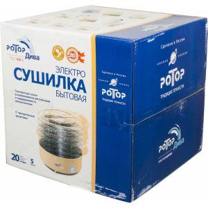 Сушилка для овощей и фруктов Ротор Дива СШ-007-04 (5 поддонов) прозрачный
