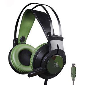 все цены на Компьютерная гарнитура A4tech Bloody J450 чёрный/зеленый онлайн