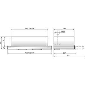 Вытяжка ELIKOR Интегра 50П-400-В2Л кремовый вс��раиваемая вытяжка elikor интегра 45п 400 в2л крем крем