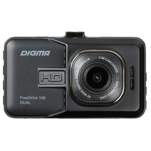 Автомобильный видеорегистратор Digma FreeDrive 108 DUAL чёрный