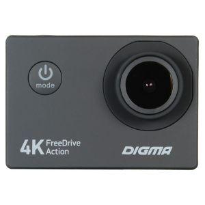 Автомобильный видеорегистратор Digma FreeDrive Action 4K чёрный