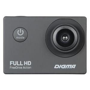 Автомобильный видеорегистратор Digma FreeDrive Action Full HD чёрный