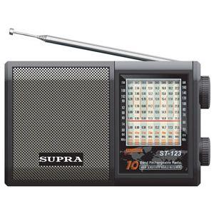 Радиоприемник Supra ST-123 black часы с радиоприемником supra sa 26fm black red