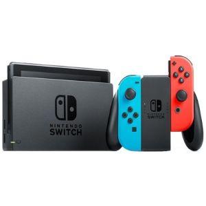 Игровая приставка Nintendo Switch + The Legend of Zelda: Breath of the Wildi красный/синий