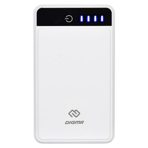 Портативный внешний аккумулятор Digma DG-10000-3U белый