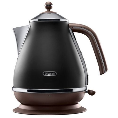 Электрический чайник DeLonghi KBOV 2001 черный/коричневый