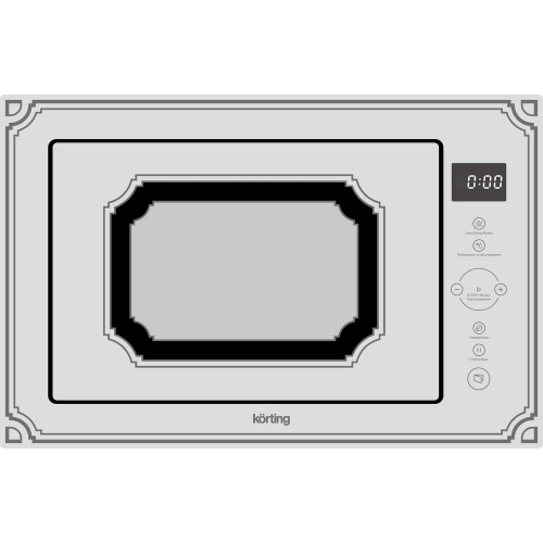 Встраиваемая микроволновая печь Korting KMI 825 RGW