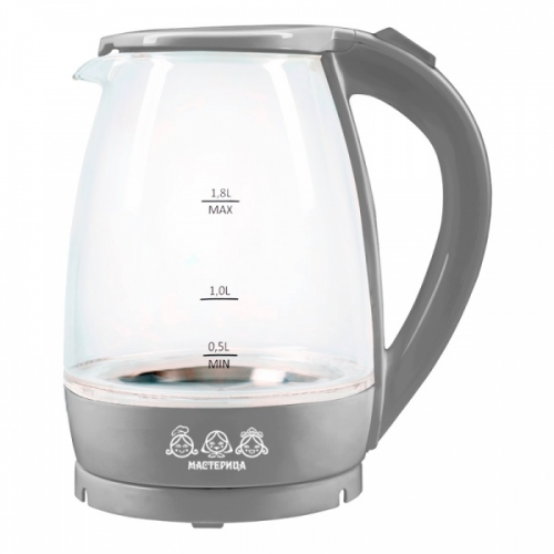 Электрический чайник Мастерица ЕК-1801G дымчатый