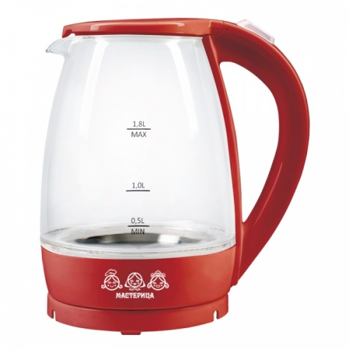 Электрический чайник Мастерица ЕК-1801G рубин