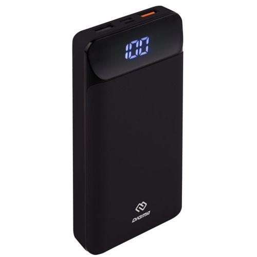 Портативный внешний аккумулятор Digma Power Delivery DG-20000-PL-BK чёрный