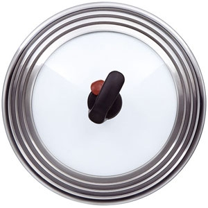 Крышка Rondell MSUFVK 22-28 см, стекло, паровой клапан цена
