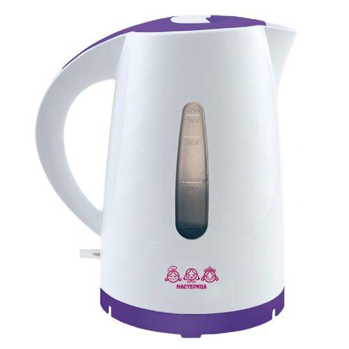 Электрический чайник Мастерица ЕК-1701M белый/фиолетовый