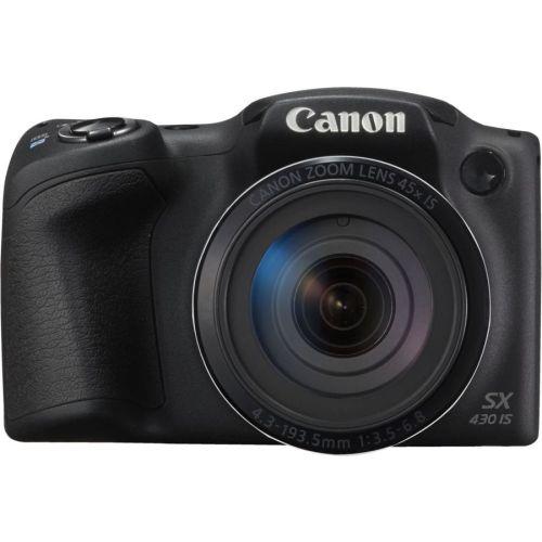 Цифровой фотоаппарат Canon PowerShot SX430 IS чёрный черного цвета