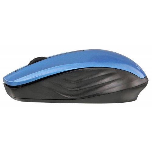 Мышь беспроводная Oklick 475MW чёрный/синий цвет чёрный/синий