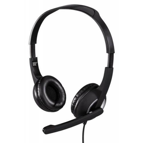 Компьютерная гарнитура HAMA HS-300 чёрный/серебристый цвет чёрный/серебристый