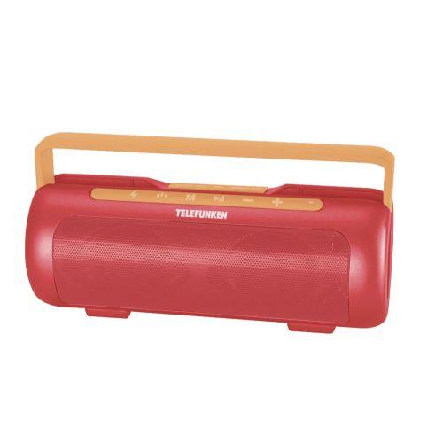 Портативная колонка Telefunken TF-PS1231B красный/оранжевый цвет красный/оранжевый
