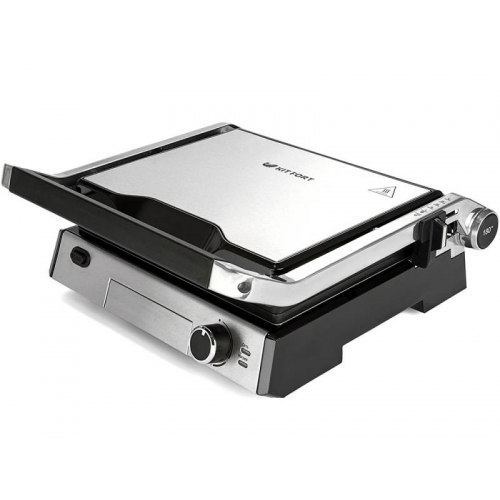 Электрогриль Kitfort КТ-1602 серебристый/черный цвет серебристый/черный