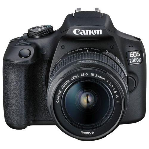 Зеркальный фотоаппарат Canon EOS 2000D Kit чёрный черного цвета