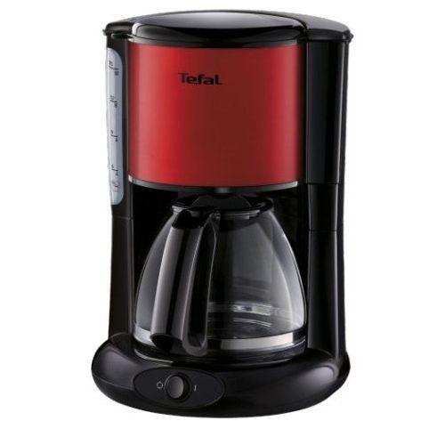 Кофеварка капельная Tefal CM361E38 черный/красный фото