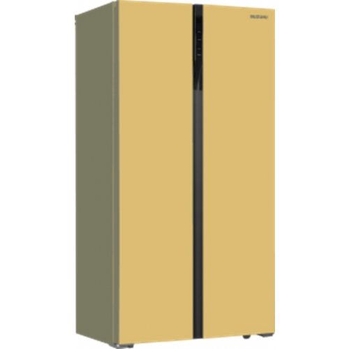 Холодильник Side-by-Side Suzuki SUSBS-D1807BEGLNF бежевое стекло фото