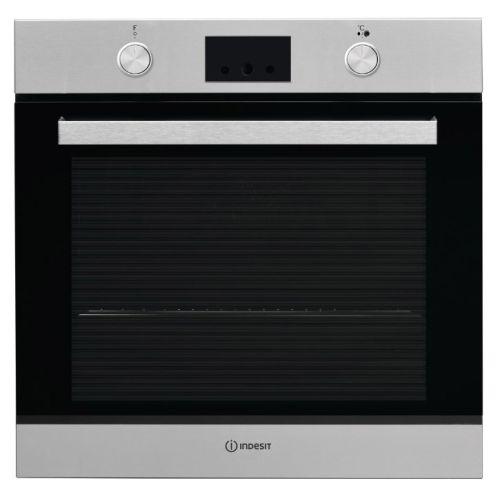 Электрический духовой шкаф Indesit IFW 65Y0 J IX серебристый серебристого цвета