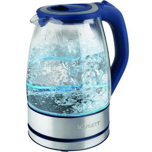 Электрический чайник Scarlett SC-EK27G46 синий фото