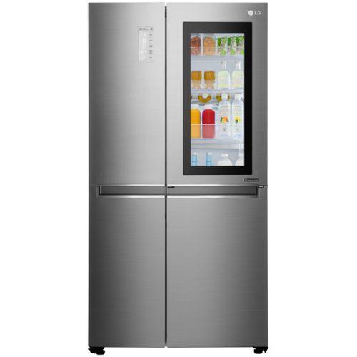 Холодильник Side-by-Side LG GC-Q247 CABV нержавеющая сталь фото