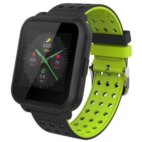 Смарт-часы KREZ Roze черный/зеленый цвет черный/зеленый