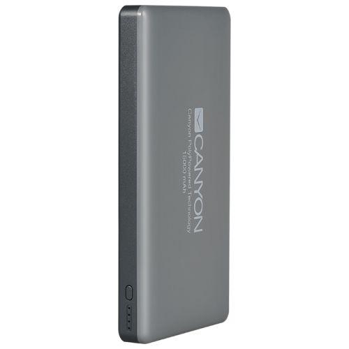 Портативный внешний аккумулятор Canyon CNS-TPBP15DG серый фото