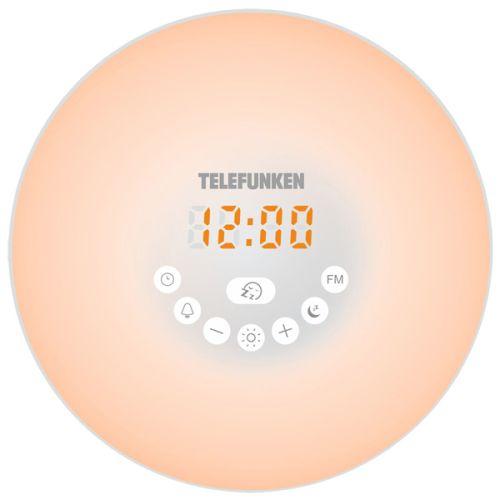 Радиоприемник с часами Telefunken TF-1589B белый белого цвета