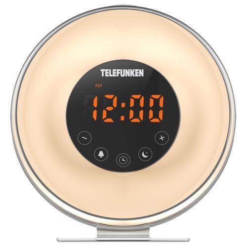 Радиоприемник с часами Telefunken TF-1596 белый белого цвета