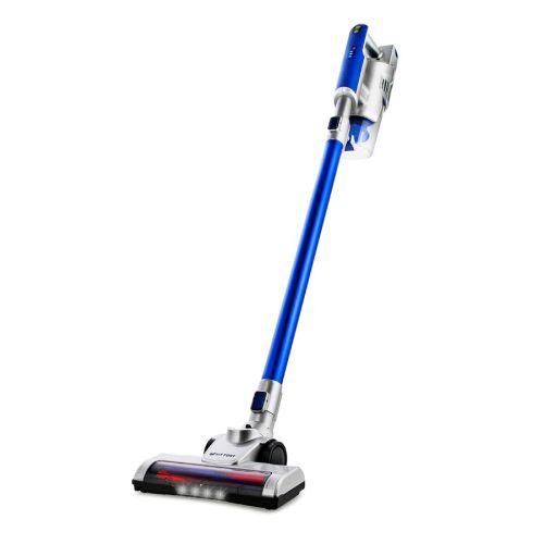 Вертикальный пылесос Kitfort KT-536 серебристый/синий фото