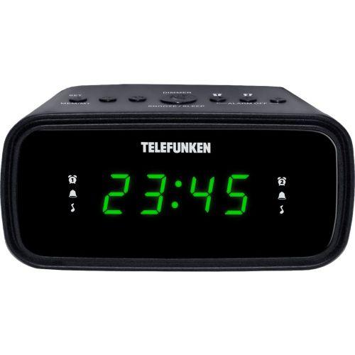 Радиоприемник с часами Telefunken TF-1588 чёрный черного цвета